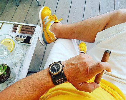 Cigar, Smoke, Cohiba, Cuba, Havana, Yellow, Watch