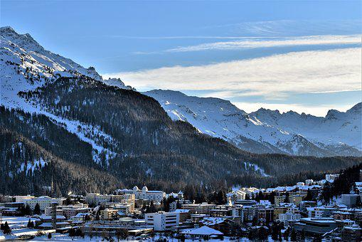 Winter, Mountains, Ski Area, Slopes, Wintry, St, Moritz