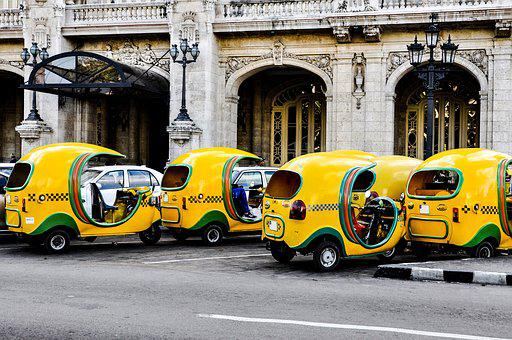 Taxi, Coco Taxi, Taxi In Cuba, A Taxi On The Street