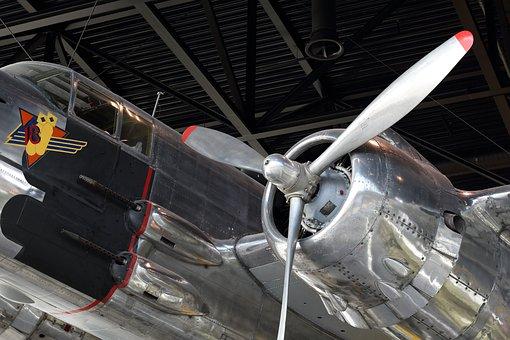 Airplane, Plane, Bomber, North, American, B-25j