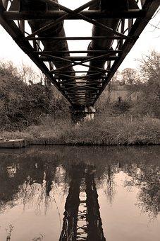 Pipe, Bridge, Architecture, Steel, Antique, Viaduct
