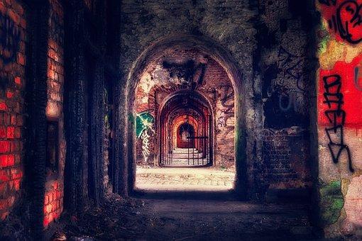 Crypt, Catacombs, Vault, Masonry, Underground, Creepy