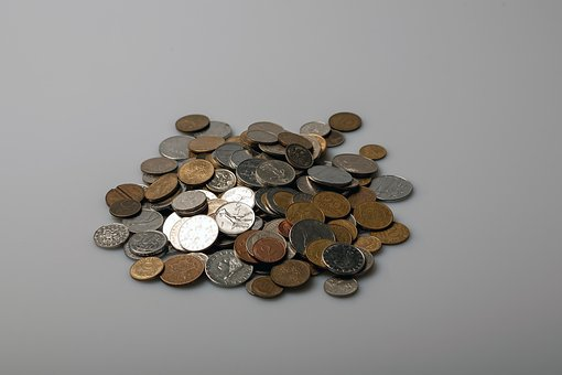 Coins, Money, Currency, Cash, Change