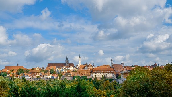 Rothenburg Ob Der Tauber, City, Germany, Buildings