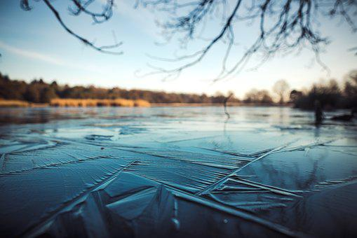 Ice, Winter, Blur, Nature, Cold, Frozen, Blue