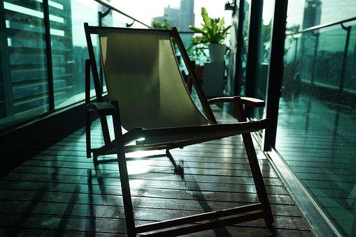 Lazy Chair, Canvas Deck Chair, Deck Chair