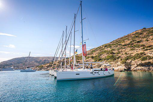 Fleet, Sail, Sun, Water, Sea, Vacations, Sky, Sunset