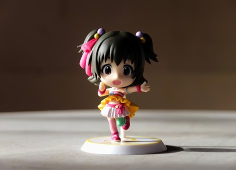 Young, Lady, Girl, Cute, Small, Chi-bi, Toy, Figurine
