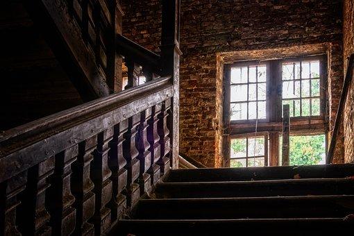 Stairs, Railing, Wood, Gradually, Emergence