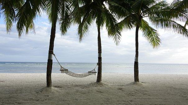 Beach, Break, Hammock, Vacation, Summer, Sand, Sea, Sky