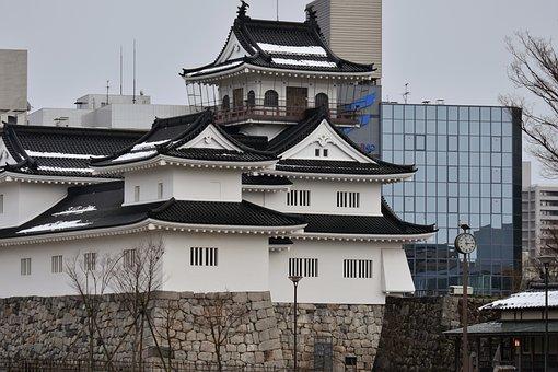 Building, Castle, Toyama Castle, Japan, City, Hokuriku