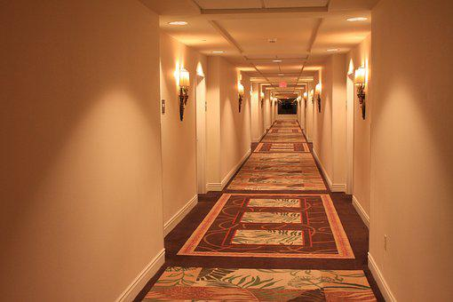 Corridor, Hotel, Carpets, Indoor, Entrance, Building