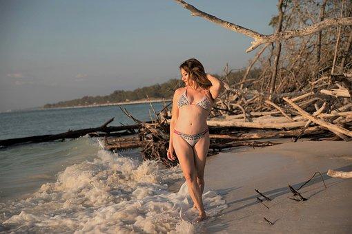 Beach, Woman, Bikini, Island, Vacation, Self Care