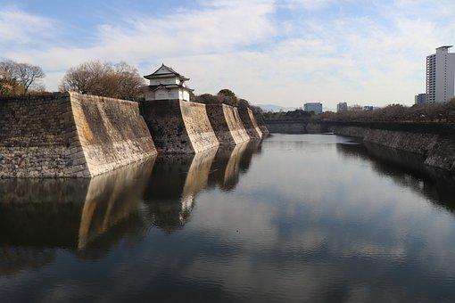 Japan, Asia, Osaka, Kansai, Osaka Castle, Castle