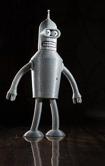 Robot, Bender, Futurama, 3d Print