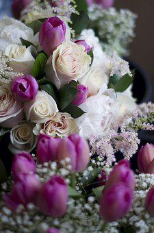 Flowers, Bouquet, Dark, Roses, Rose, Pedals, Pedal