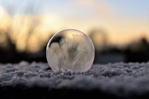 Soap Bubble, Frozen, Hardest, Freeze, Frost