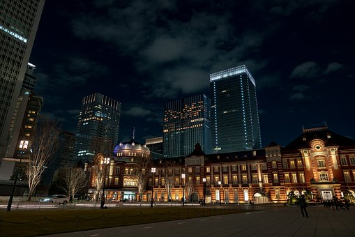 Tokyo, Night View, Station, Japan, Night, Building