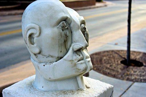 Head In Progress, Sculpture, Stone, Bust, Face, Head