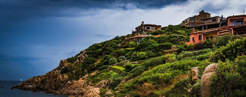 Mediterranean, Architecture, Clouds, Thunderstorm