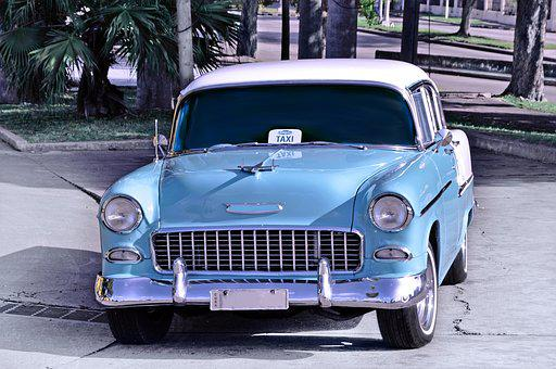 Old Timer, Old Auto, Usa Old Timer, Cars In Cuba, Retro