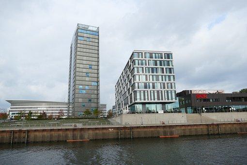 Bremen, Weser, River, Ship, Port, City, Architecture