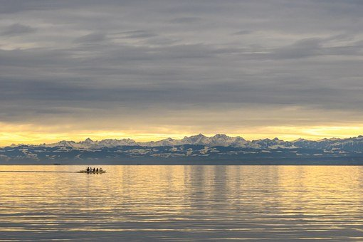 Lake Constance, Mountains, Alpine, View Of The Alps