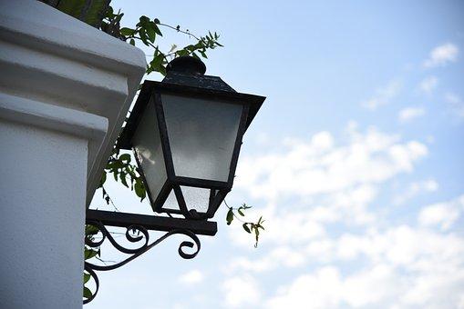 Lantern, Sky, Clouds, City, Luminary, Architecture