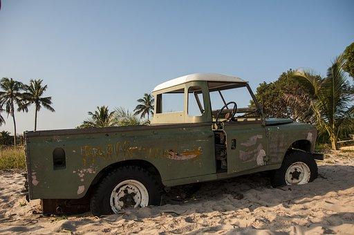 Landrover, Auto, Jeep, Beach, All Terrain Vehicle
