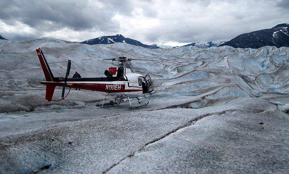 Helicopters, Glacier, Travel, Rescue, Ice, Canada
