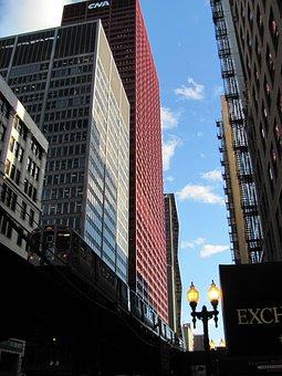 Chicago, City, Urban, Downtown, Transportation