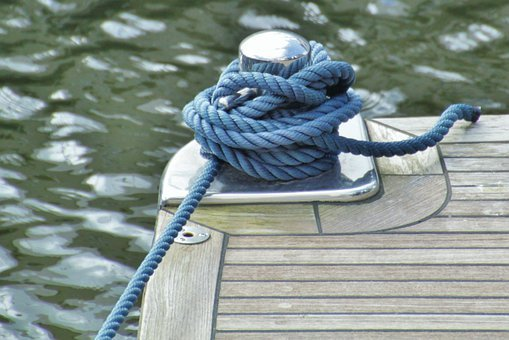 Rope, Ropes, Knot, Woven, Close Up, Cordage, Leash, Dew