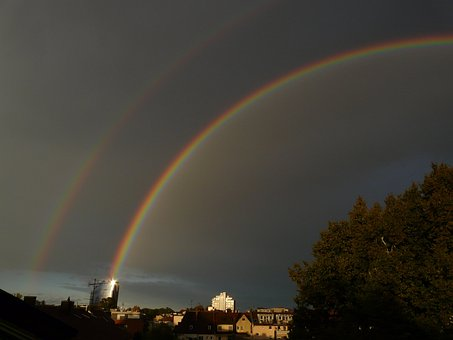 Double Rainbow, Rainbow, Secondary Rainbow, Dark