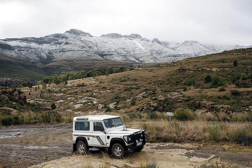 Eastern Cape, Africa, Mountains, Snow, Landrover, Rocks
