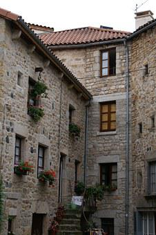 Old Village, France, Old Stone Houses, Fenêtes