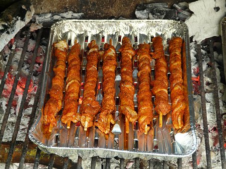 Grill Flares, Pork Belly, Barbecue, Grilling, Fire