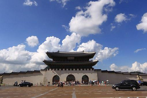 Seoul, Gwanghwamun, Sky, Cbd, Forbidden City