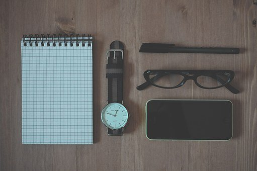 Iphone, Phone, Watch, Wooden, Pen, Glasses, Technology
