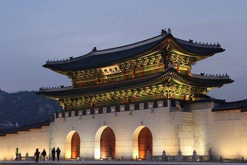 Korea, Sejongno, Gwanghwamun, Forbidden City