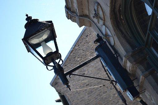 Lamp, Street Light, Street Lamp, Web, Spider, Cobweb