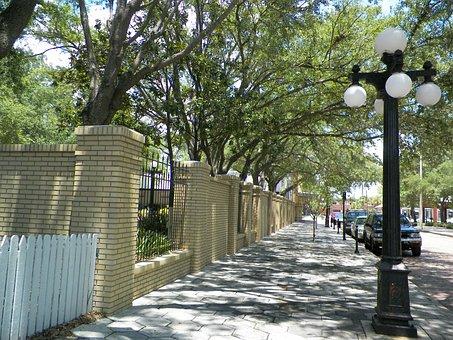 Streetlight, Sidewalk, Light, Lamp, Architecture, Urban