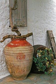 Mediterranean, Deco, South, Pots, Summer, Planters