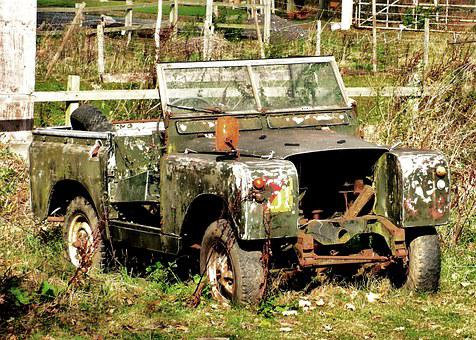 Landrover, Abandoned, Military, Army, Rusty, Jeep