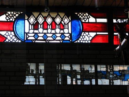 Church Window, Church, Window, Mirroring, Crown