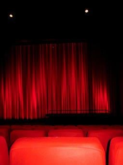 Cinema, Cinema Seating, Movie, Cinema Hall, Red, Black