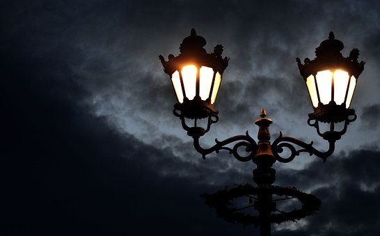 Streetlight, Night, Street, City, Light, Lamp, Mystery