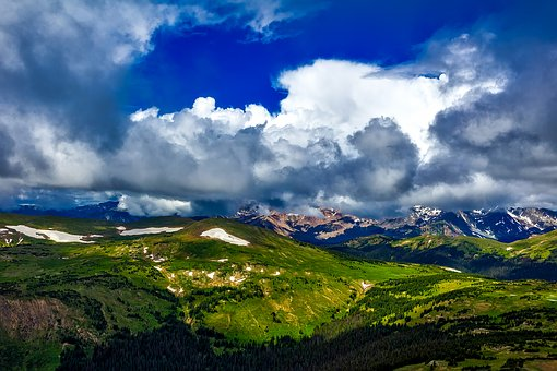 Colorado, Mountains, Sky, Clouds, Landscape, Nature