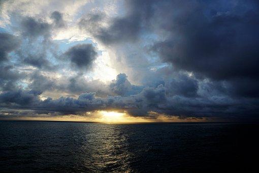 Atlantic, Ocean, Water, Sky, Nature, Weather, Sun