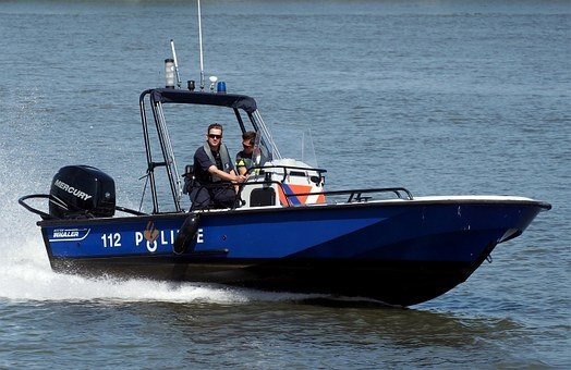 Speed Boat, Police, Boat, Water, Speed, Security, Ocean