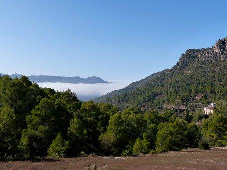 Montsant, Priorat, Landscape, Roger More, Clouds, Fog